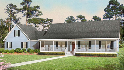 Tidewater Modular Homes - Ranch style modular home in Charles City, VA