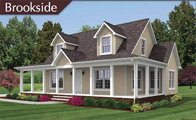 The brookside cape cod modular floor plan caters to the for Tidewater style homes