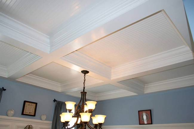 Tidewater Custom Modular Homes - Coffered Ceiling - Suffolk, VA