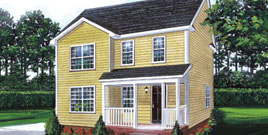 Tidewater Custom - The Logan two-story traditional style modular home in Windsor, VA