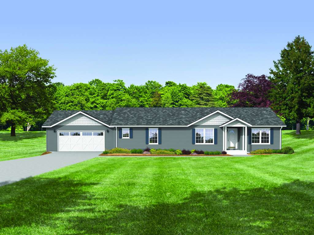 Adding a garage to ranch style house garage designs for Adding a garage to a modular home