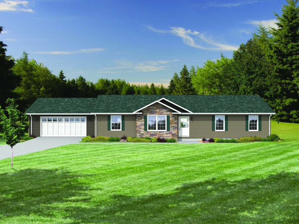 Modular ranch plans ranch style designs virginia beach for Ranch house with garage