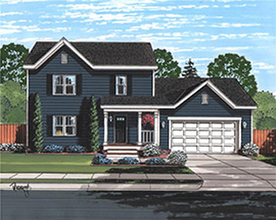 Tidewater Sage I Traditional Two-Story home